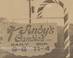 Andy's Candies Vintage Sign